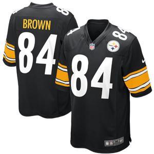 NFL スティーラーズ アントニオ・ブラウン ゲーム ユニフォーム ナイキ/Nike ブラック 468972-018|selection-j
