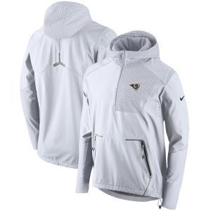 お取り寄せ NFL ラムズ チャンプ ドライブ ヴェイパー スピード ハーフジップ ジャケット ナイキ/Nike ホワイト selection-j