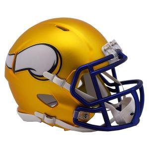 NFL バイキングス ブレイズ レボリューション スピード ミニ フットボール ヘルメット リデル/Riddell【1902NFLセール】|selection-j