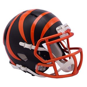 NFL ベンガルズ ブレイズ レボリューション スピード ミニ フットボール ヘルメット リデル/Riddell【1902NFLセール】|selection-j