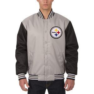 お取り寄せ NFL スティーラーズ メンズ ポリツイル ジャケット JH デザイン/JH Design グレー selection-j