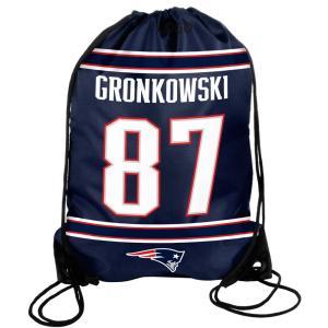 NFL ペイトリオッツ ロブ・グロンコウスキー プレイヤー ドローストリング ジムサック/ナップサック Forever Collectibles(フォーエバーコレクタブルズ)|selection-j