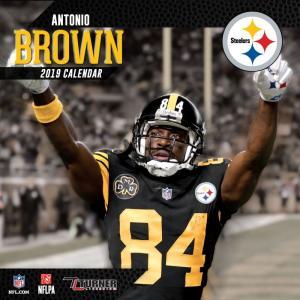 NFL スティーラーズ アントニオ・ブラウン 2019 プレイヤー カレンダー ターナー/Turner|selection-j