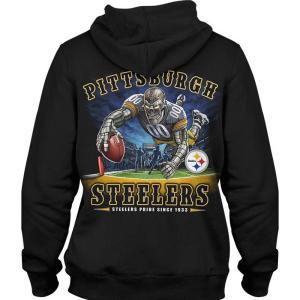 NFL スティーラーズ パーカー/フーディー エンドゾーン ブラック|selection-j