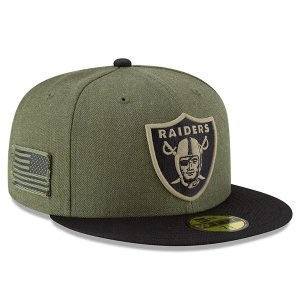NFL レイダース キャップ/帽子 2018 Salute To Service 59FIFTY フィッテッド ニューエラ/New Era|selection-j