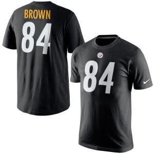 NFL スティーラーズ アントニオ・ブラウン Tシャツ プレイヤー プライド ネーム&ナンバー  ナイキ/Nike ブラック|selection-j