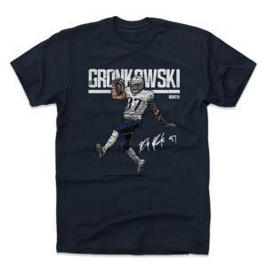 NFL ペイトリオッツ ロブ・グロンコウスキー Tシャツ Player Art Cotton T-Shirt 500Level ネイビー|selection-j