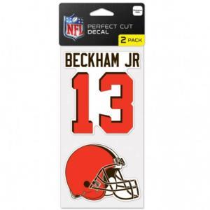 NFL ブラウンズ オデル・ベッカム パーフェクトカット デカールステッカー 2枚セット 4×4 ウィンクラフト/WinCraft|selection-j