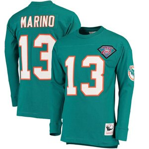 NFL ダン・マリーノ ドルフィンズ Tシャツ 引退選手 ネーム & ナンバー ロング ミッチェル&ネス/Mitchell & Ness アクア|selection-j