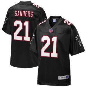 NFL ディオン・サンダース ファルコンズ ユニフォーム/ジャージ 引退選手 レプリカ ブラック|selection-j