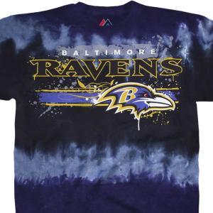 NFL レイブンズ Tシャツ ステンシル タイダイ染め|selection-j