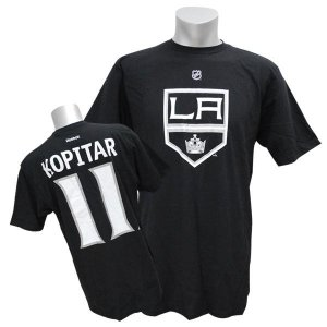 NHL キングス アンジェー・コピター Tシャツ ブラック リーボック Name&Number Tシャツ|selection-j