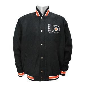 NHL フライヤーズ ジャケット ブラック ジースリー/G-III Contender Wool ジャケット【1902OTHセール】 selection-j