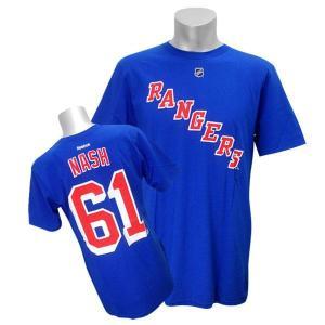 NHL レンジャース リック・ナッシュ Tシャツ ブルー リーボック Name&Number Tシャツ selection-j