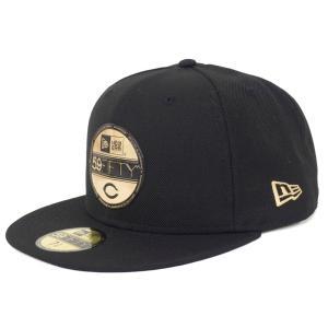 広島カープ グッズ キャップ/帽子 バイザーステッカー ニューエラ/New Era ブラック/ゴールド|selection-j