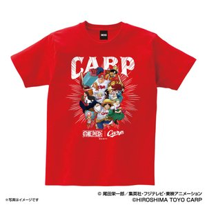 広島カープ グッズ Tシャツ ワンピース×カープ Tシャツ (麦わらの一味) Space Age レ...