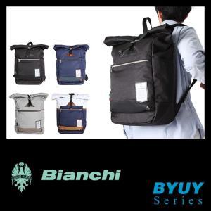 【在庫限り】ビアンキ リュック 日本正規品 リュックサック バックパック ロールトップ メンズ レディース バッグ 防水 撥水 A3 Bianchi BYUY-04 P20Aug16|selection