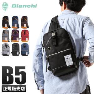 ビアンキ ボディバッグ メンズ レディース ワンショルダーバッグ 日本正規品 撥水性 ユニセックス セミB5ノート Bianchi NBTC-10|selection