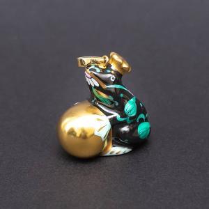 ヘレンド 西安の黒 カエルの王様 ペンダントトップ|selectors
