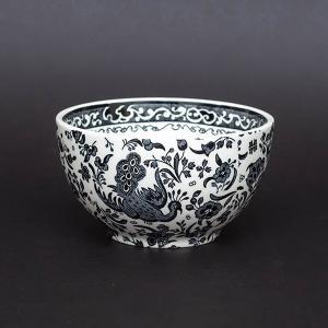 イギリスの陶器ブランド、バーレイのブラック・リーガル・ピーコックのシュガーボウル(Lサイズ)。  孔...