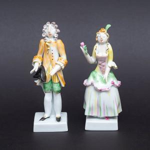 マイセン 様式ペア人形「ロココ」 selectors
