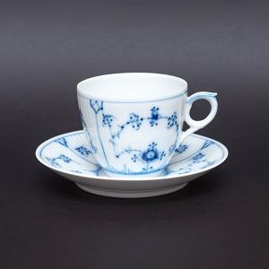 ロイヤル・コペンハーゲン ブルーフルーテッドプレイン コーヒーカップ&ソーサー|selectors