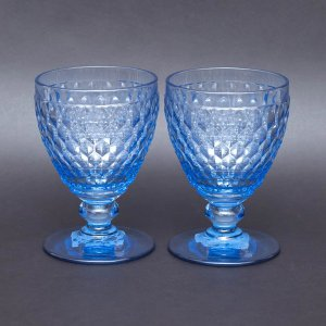 ビレロイ&ボッホ ボストン ワイングラス(ブルー)ペア|selectors