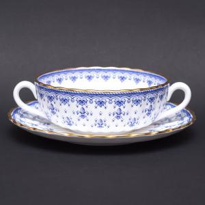 スポード フルール・ド・リス ブルー スープカップ&ソーサー|selectors