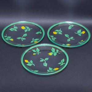 フッチェンロイター サマードリームガーデン 21cmガラスプレート(3枚セット)|selectors