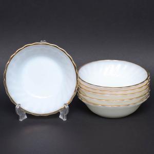 アンカーホッキング 金彩ミルクホワイト ミニボウル(6枚セット)|selectors