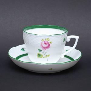 ヘレンド ウィーンの薔薇 メランジェカップ&ソーサー(ハンガリー建国1,100年記念)|selectors