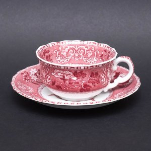 スポード ピンクカミラ ティーカップ&ソーサー(※旧シェイプ)|selectors
