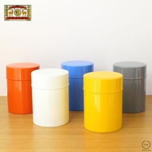 お茶缶 保存缶 スチール レトロ 中蓋付き