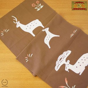 鹿 シンプル 秋小物 てぬぐい 贈り物 日本製