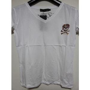 Ed Hardy(エドハーディー) 正規品★ レディース半袖Tシャツ ホワイト W02CMV553|selectshop-blume