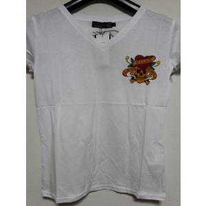 Ed Hardy(エドハーディー) 正規品★ レディース半袖Tシャツ ホワイト W02CMV052|selectshop-blume