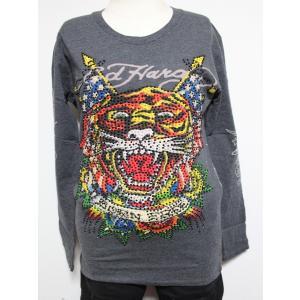 Ed Hardy(エドハーディー) 正規品★ レディース長袖Tシャツ TIGER W03PBG531|selectshop-blume