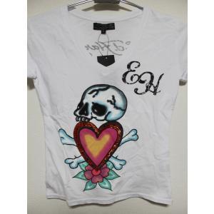 Ed Hardy(エドハーディー) 正規品★ レディース半袖Tシャツ W02SPA241  ホワイト|selectshop-blume