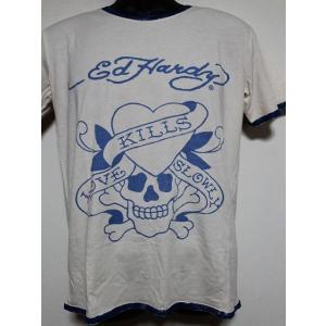Ed Hardy(エドハーディー) 正規品★ メンズ半袖Tシャツ M02SPR052 ラブキル|selectshop-blume