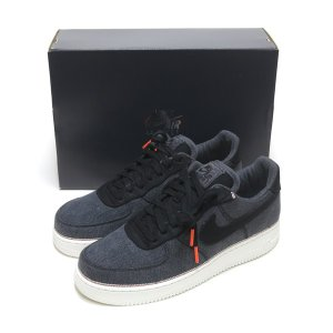海外限定☆NIKE AIR FORCE 1 '07 PRM 3x1 DENIM BLACK/BLAC...