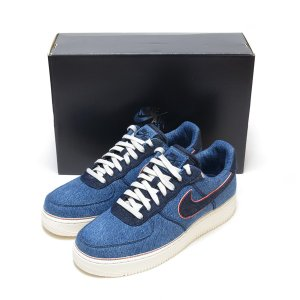 NIKE AIR FORCE 1 '07 PRM 3x1 DENIM STONEWASH BLUE/...