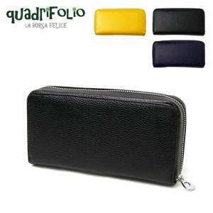 1a36f64a418b クアドリフォリオ レディース財布 メンズ財布 Q-4509 長財布 ラウンド ジップ 革 シンプル 大 ...