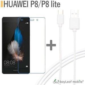 HUAWEI P8 lite 強化ガラス保護フィルム 旭硝子製素材 9H ラウンドエッジ 0.33mm ファーウェイ USB Type-C ケーブル 約1m 充電ケーブル Type-c対応充電ケーブル selectshopbt