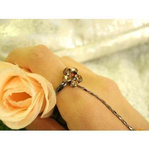 ブレスレットリング フィンガーブレスレット 琥珀色の薔薇 フォーマルアクセ|selectshopmarimari|03