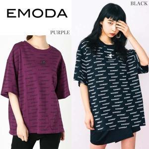 EMODA エモダ  リピートライン Tシャツ【EMODA×...
