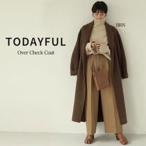 LIFE's【ライフズ】 TODAYFUL【トゥデイフル】 Over Check Coat オーバー...