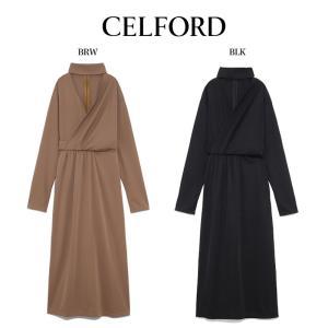 CELFORD  セルフォード スムースドレープカットワンピース  ■素 材■ ポリエステル100%...