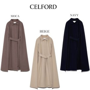 CELFORD  セルフォード マントコート ■素 材■ 羊毛100%/別布:ポリエステル100%/...