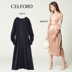 CELFORD  セルフォード サテンロングワンピース  ■素 材■ 表地 : ポリエステル100%...