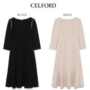 CELFORD  セルフォード レース切替ワンピース  ■素 材■ ポリエステル63%、レーヨン34...